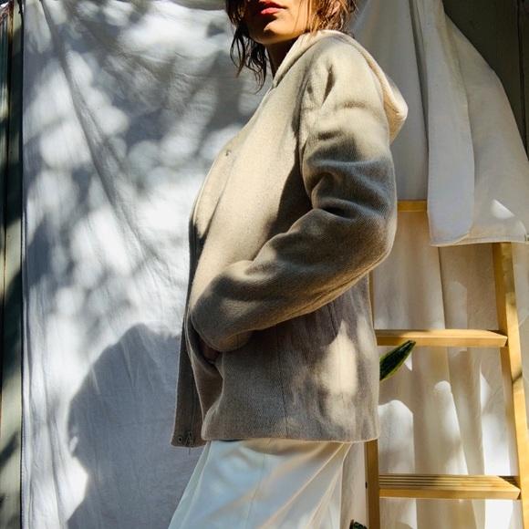 GAP Jackets & Blazers - GAP// Ivory Hooded Wool Coat